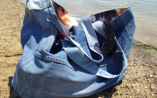 Сшить сумку из джинсов своими