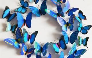 Бабочка ажурная шаблон