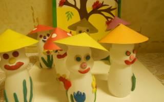 Поделки из бутылочек имунеле для детского сада