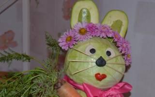 Заяц из овощей поделка