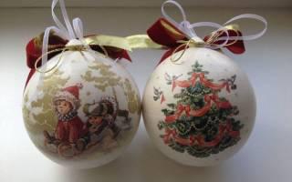 Декор новогодних шаров мастер класс