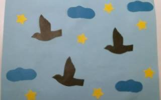 Шаблоны птиц улетающих на юг осенью