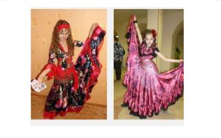 Выкройка цыганского платья для куклы