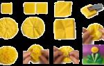 Простые поделки из салфеток