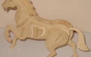 Лошадка из фанеры шаблоны