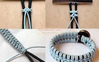 Как плести браслеты из веревок