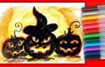 Рисунки на хэллоуин для срисовки сложные