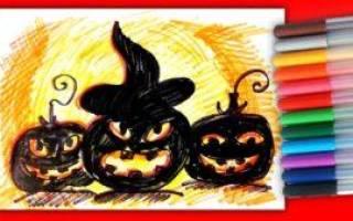 Картинки к хэллоуину нарисованные