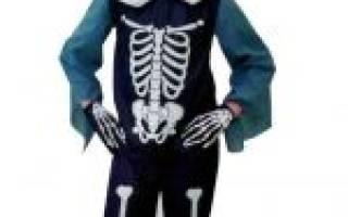 Трафарет скелета для костюма