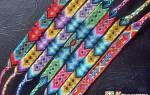 Фенечки из ниток мулине схемы плетения