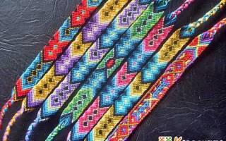 Браслеты из мулине для начинающих схемы легкие