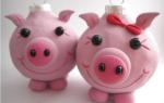 Поделки на новый год символ года свинья