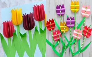 Трафарет тюльпана для аппликации