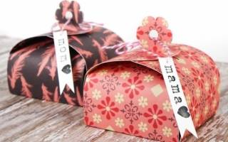 Шаблоны новогодних коробочек