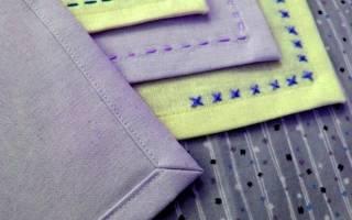 Обработка углов при шитье
