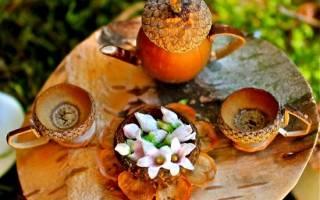 Поделки из шишек каштанов желудей орехов фото