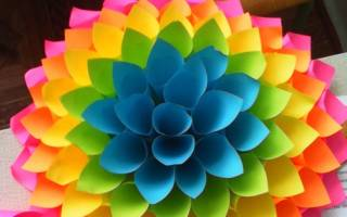 Цветок из кулечков