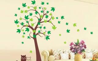 Контур листа дерева