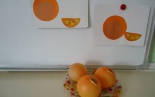 Шаблон апельсина для вырезания из бумаги
