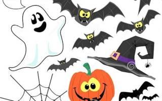 Шаблон привидения на хэллоуин из бумаги