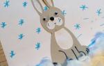 Трафарет зайца для вырезания