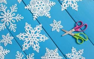 Новогодние трафареты снежинки на окна