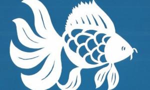 Трафарет рыбки для вырезания из бумаги шаблоны