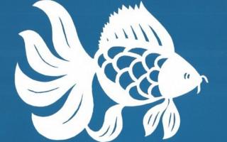 Силуэт рыбки для вырезания