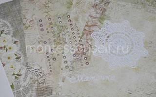Скрапбукинг открытка маме на день матери