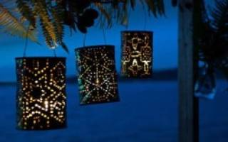 Светильники из консервных банок