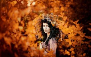 Осенний ободок на голову своими