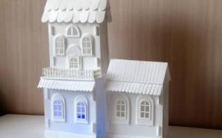 Новогодний домик из потолочной плитки