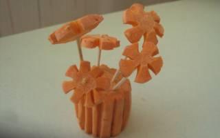 Поделки из моркови для детского сада