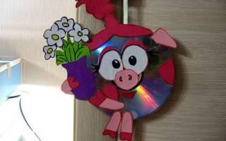 Декор из дисков