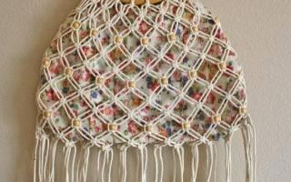 Макраме для начинающих схемы плетения сумок