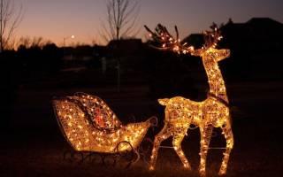 Чертежи для изготовления рождественских оленей