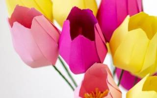 Трафарет тюльпанов для вырезания из бумаги шаблоны