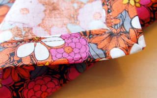 Как обработать края салфетки из ткани