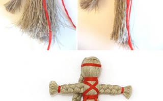 Как сделать куклу из ниток для вязания