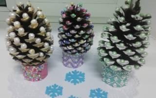 Новогодние поделки елка из шишек
