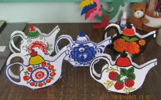 Трафарет чайника для росписи