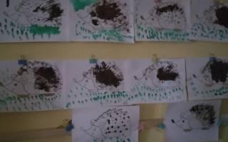 Рисование вилкой ежик