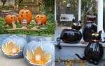 Поделки из тыквы на хэллоуин фото